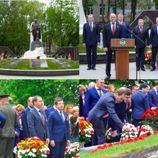 Министр имущественных и земельных отношений Евгений Поляков принял участие в открытии мемориального комплекса, посвященного памяти воинов, погибших и пропавших без вести в годы войны.